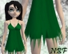 ripped green angel dress