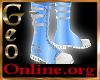 Geo Vanity Boots Blue