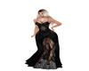 F]black lace dress
