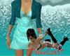*Dress with Bolero Aqua