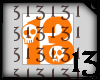 13 Skull Orange No BG