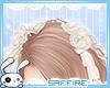 Hair Roses Ribbons White