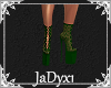 Jeri Lace Boots - Green