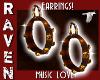 MUSIC LOVE EARRINGS!