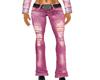 Pink Ripped Jeans w/belt