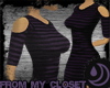FMC:Purple Striped Dress