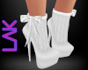 White knit boots