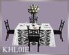 K  bw wedding table