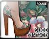 |2' Vintage Floral Shoes