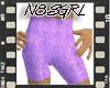 Purple Sparkle Shorts
