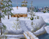 Anns snowy log cabin