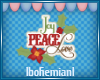 Joy Peace Love Sticker