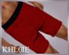 K red chino shorts