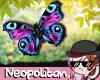 Purple Blue Butterflies