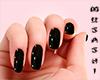 Shiny black nails