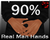 real man small hands 90%