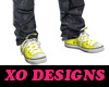 {XO} Yellow Chucks
