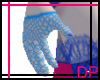 [DP] Blue Fishnet Gloves