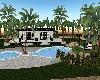 pool villa b&w