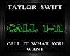 T. Swift~Call It Want Yo