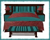 Cuddle Bed Red/Teal