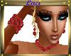 ~L~Red Beads 4 pc Set