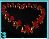 Corazon rosas rojas
