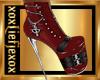 [L] Zipper RED Boots F