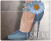 [Is] Flower Heels Blue
