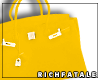 RF | Leather Tote -Lemon