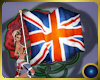 UK flag with poses