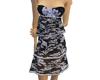 Blue Floral 3tier dress