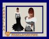 (CR) Blk-White Fur Gown
