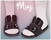 ! Bunny slippers (black)