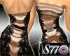 -Gold Lace Dress
