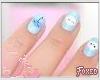 Cloudy nails e