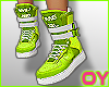 *D* Lime sneakers