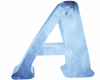 ICE Blue Letter A