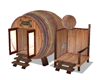Barrel Sauna and shower
