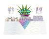 Rainbow Wed gift Table