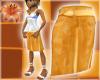 Beach Skirt Tiki Orange