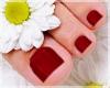 Bare Feet Red Pedicure