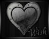 {Wish}Grey Heart Sticker
