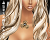 ^AZ^Necklace-Gold/Blk