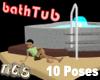 Bath Tube gray/red/brown