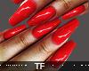 $ Flirt Red Nails