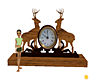 Deer Mantle Clock