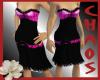 {C}Pink And Black Dress