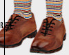 oxford w striped socks