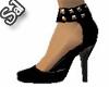 Black Stud Ankle Strap